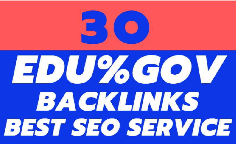 I will your website URL on 30 pr9,  edu,  gov backlinks for