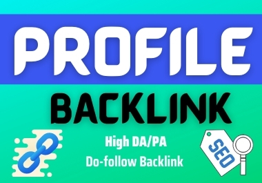 Amazing & High qualities SEO profile backlinks,  link building it's Manual & Professional