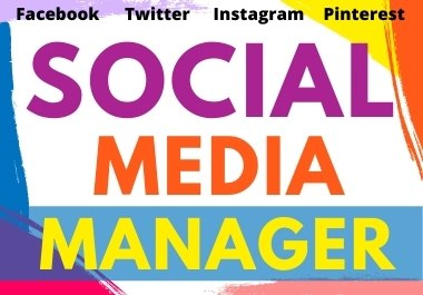 I will be Your Social Media Manager for your website and blog post