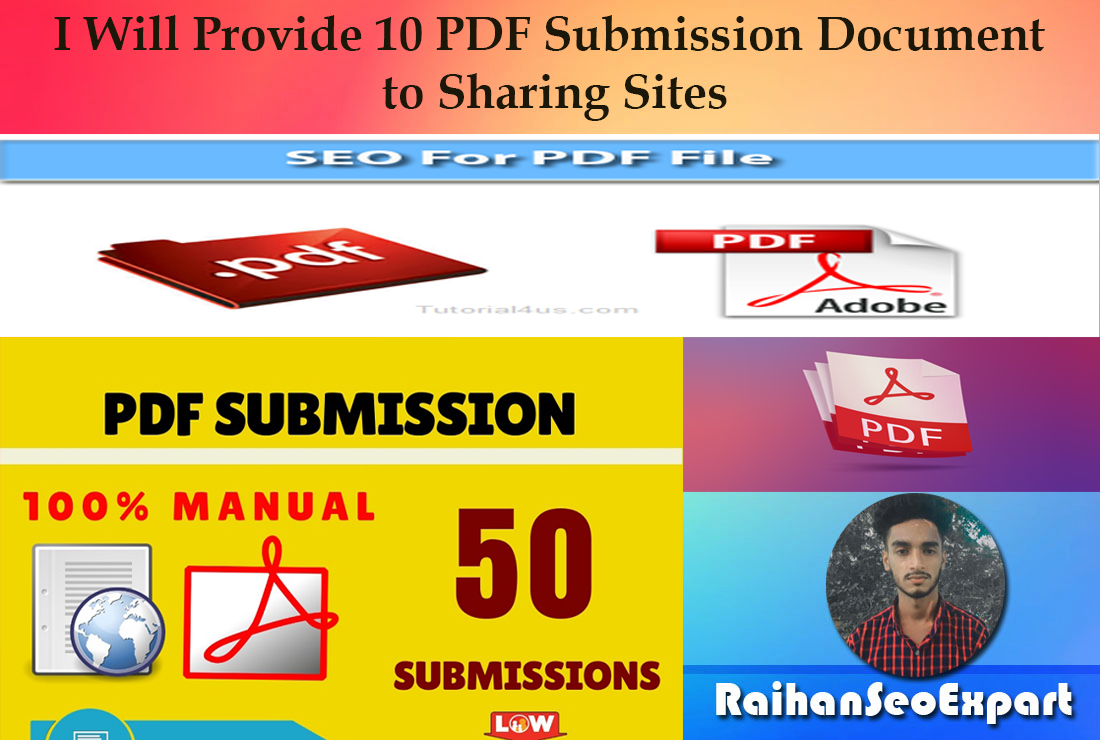 I Will Provide 10 PDF Submission Document to Sharing Sites