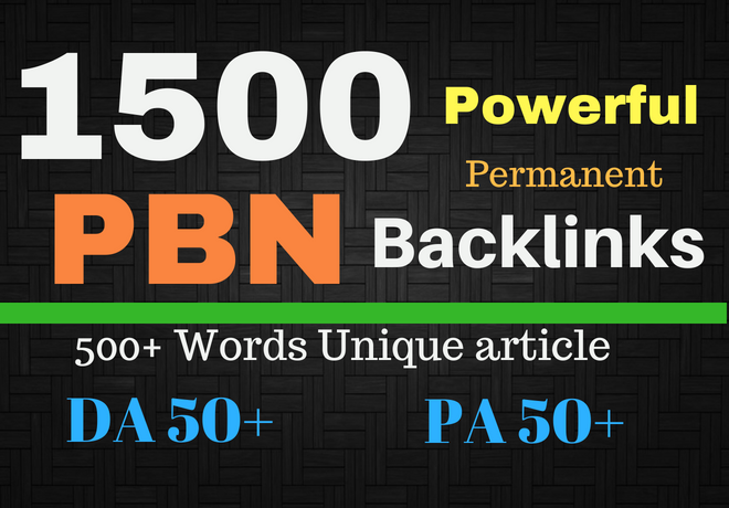 1500+PBN Web 2.0 WhaiteHat Dofollow Backlink with High DA50/PA/ Google homepage with unique website