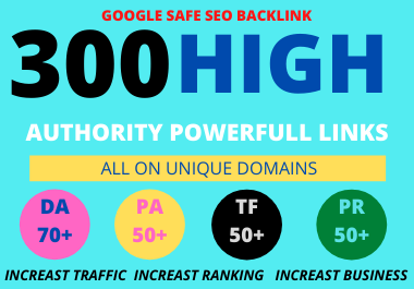 I Will Provide 300 High Authority Powerfull Homepage web2.0 Backlink 100 Permanent Dofollow