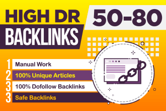 I will create 50 SEO dofollow backlinks for your website top ranking on google.