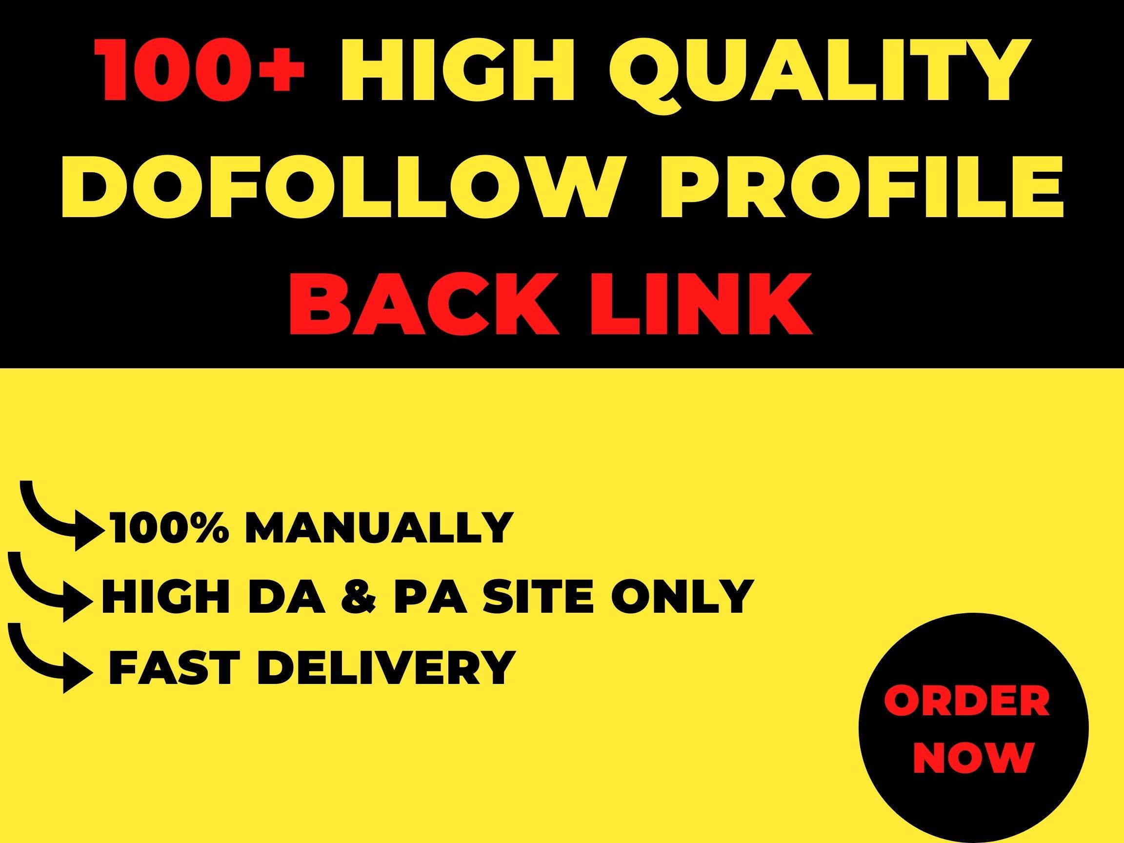 I will create 100+High Quality Dofollow Profile Backlinks