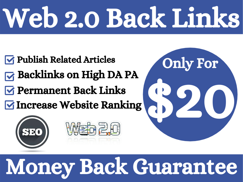 I Will Build 30 Web 2.0 Back links For Your Website