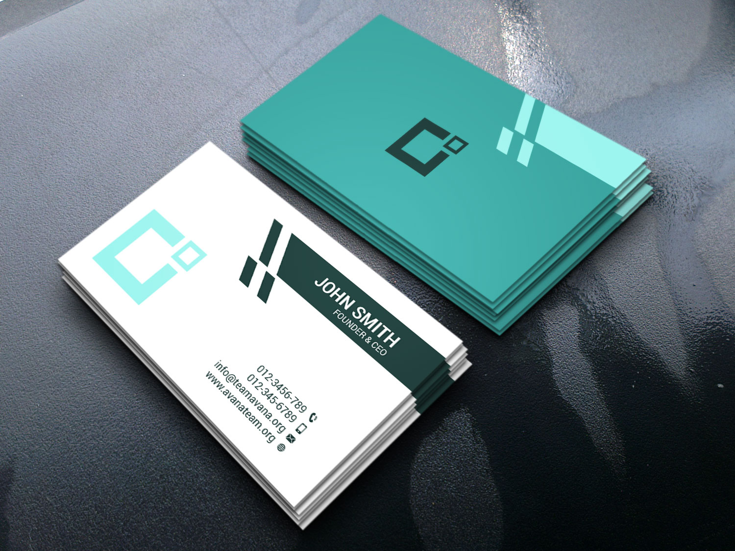 I will design Minimal and Clean Business Card with Professional Type