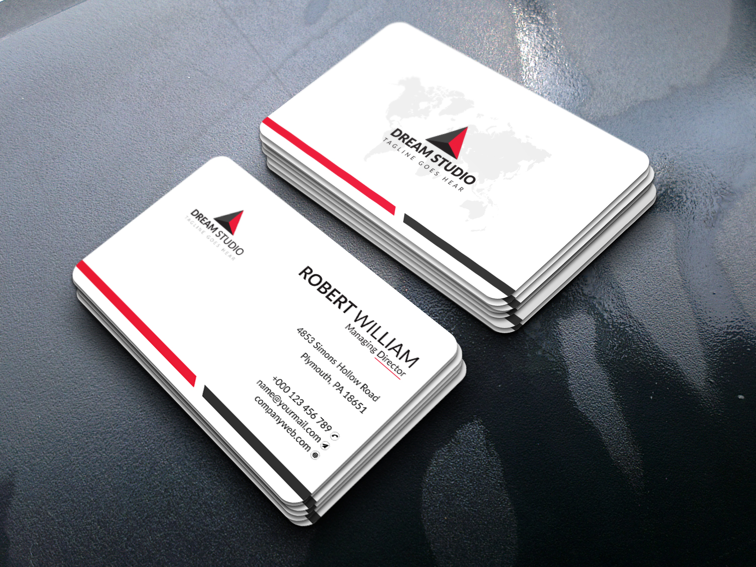 I will design modern and professional business card design within 12 Hours