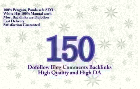 I will create 150 Dofollow Blog Comment Backlinks