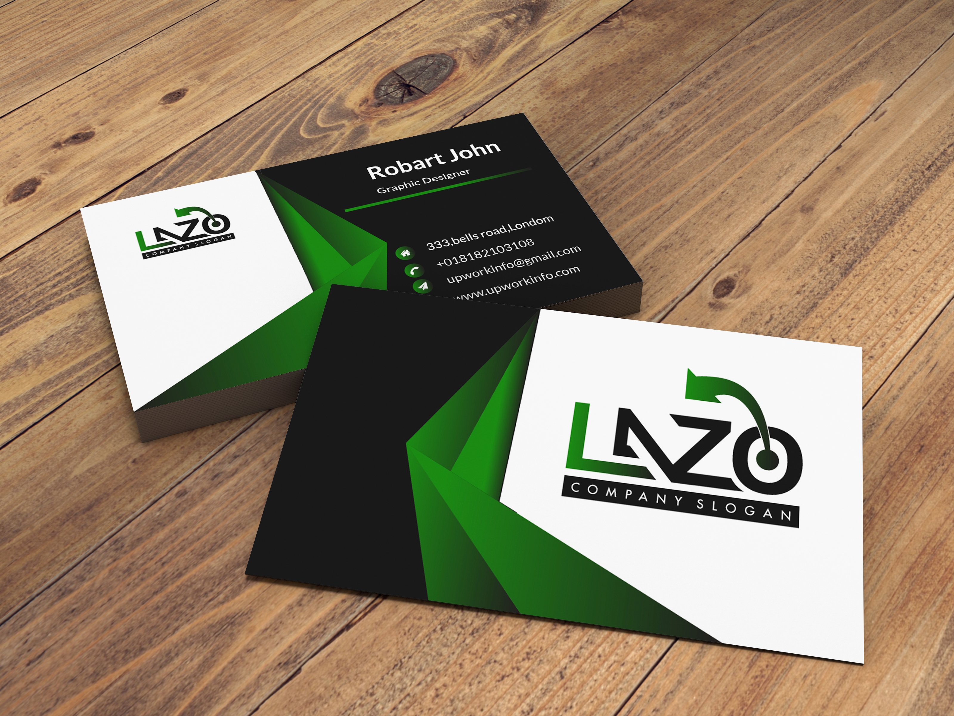 I will design minimal and very unique business card for you