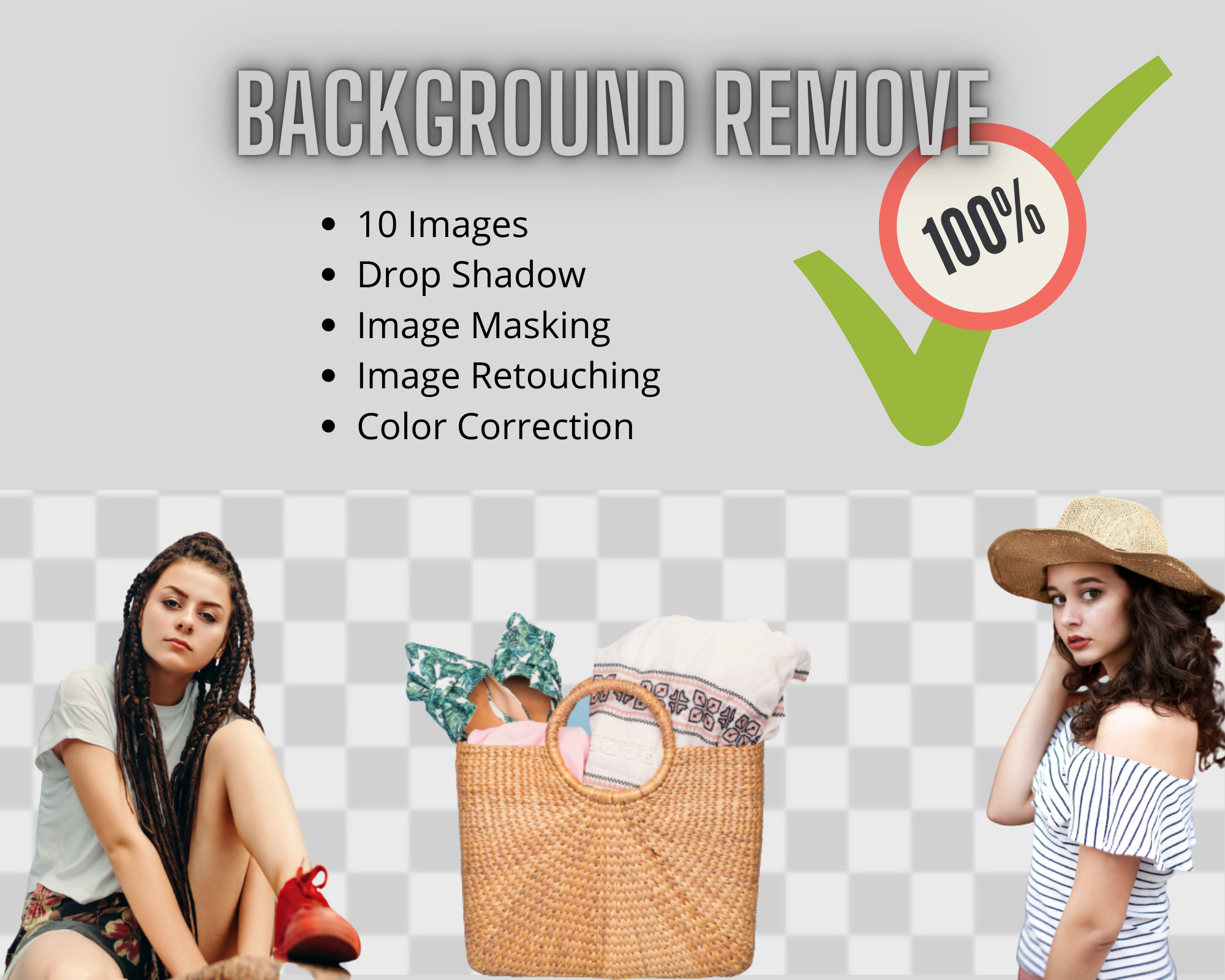 High quality Background Remove within 24hrs 10pcs With Guarantee.