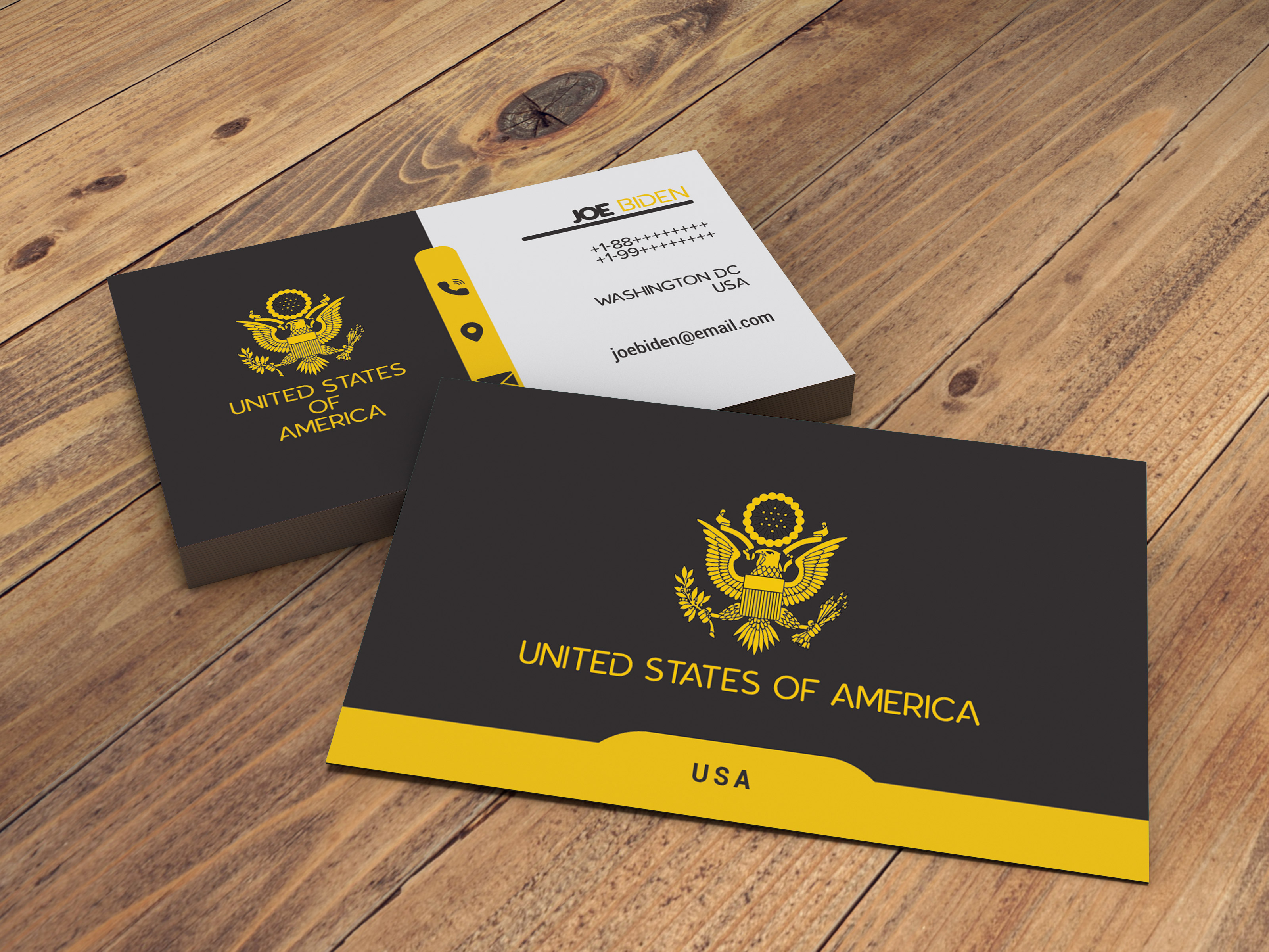 Design you unique modern business card for business, jobs websites and many more