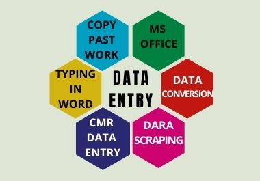 I will do data entry|copy past|MS office work for you in a short time