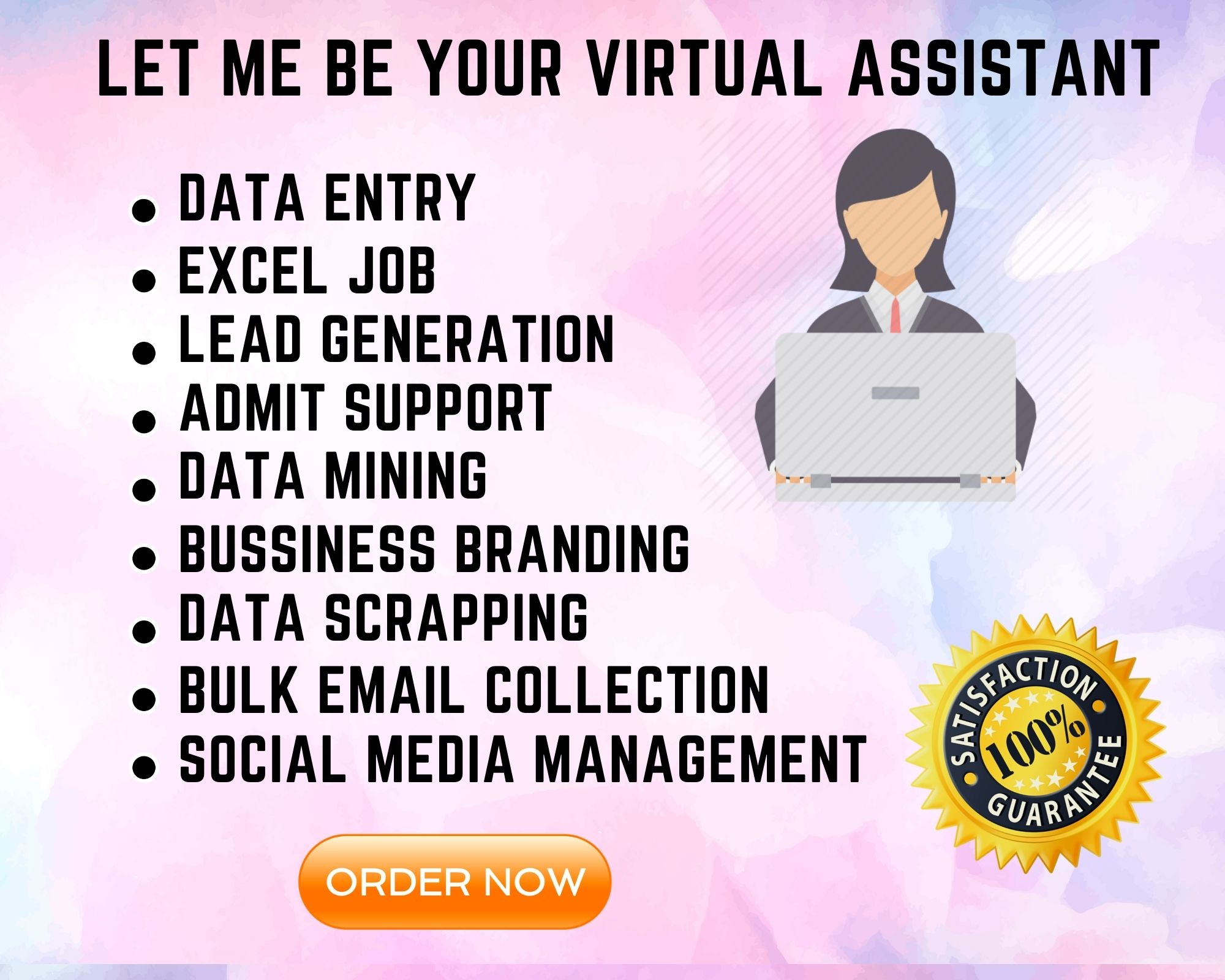 I will be your credible Virtual Assistant for Data Entry and Web Research