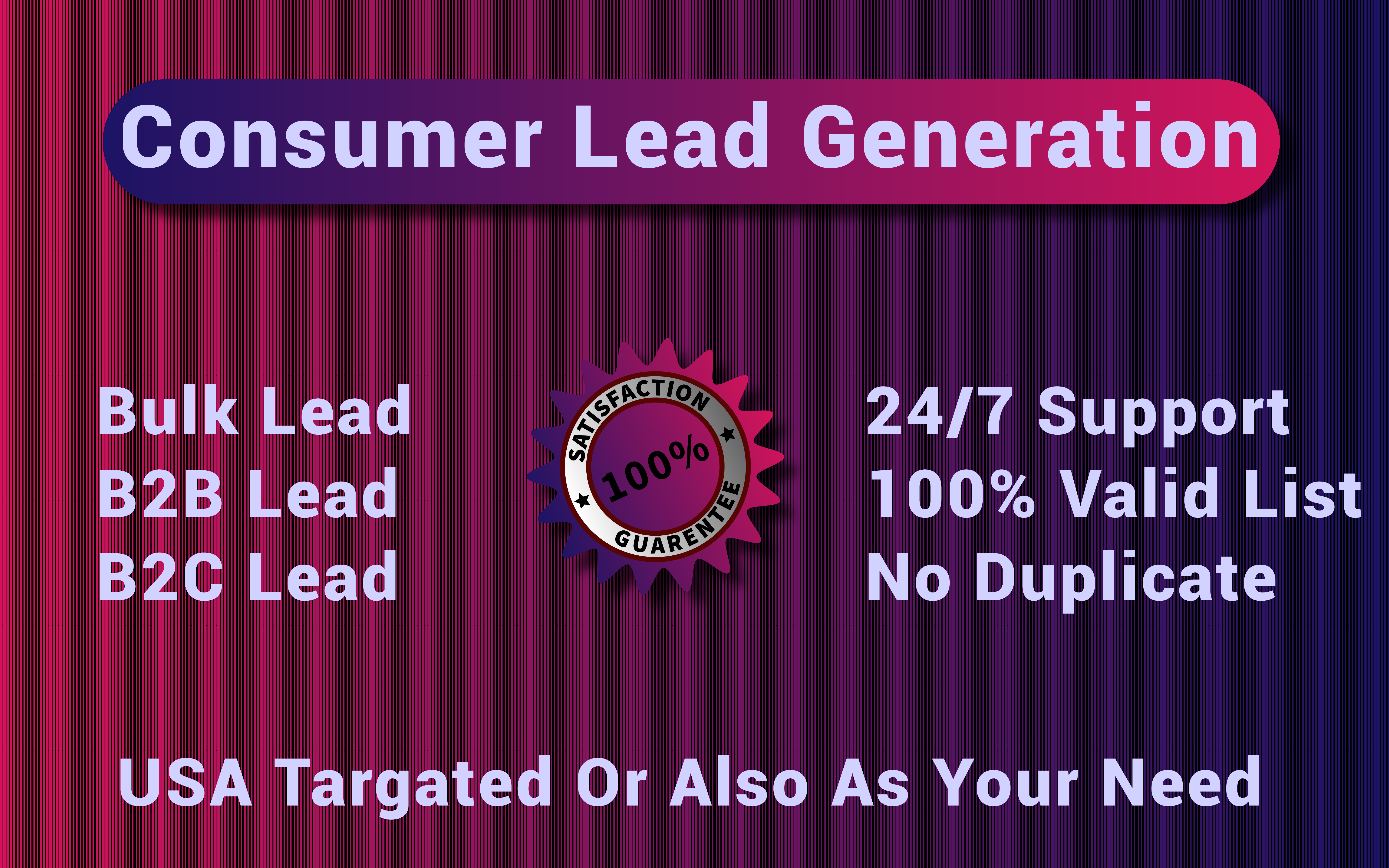 I Will Be Your Next USA Lead Generation Collector For Your Business Or Any Other Purpose