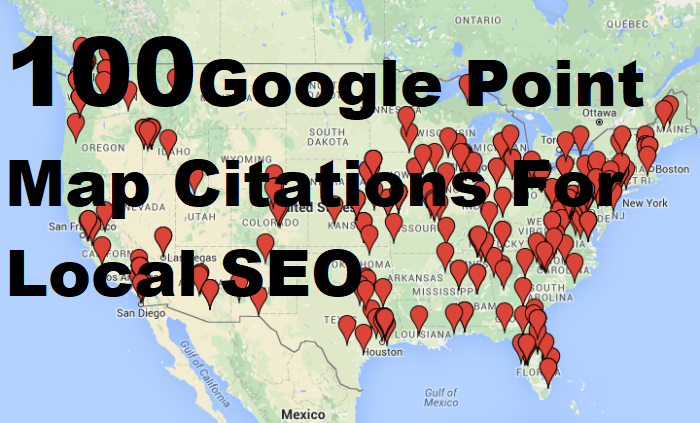 100 google point map citations for local SEO