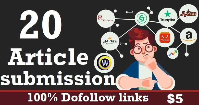 20 Article Submission Do follow Backlinks