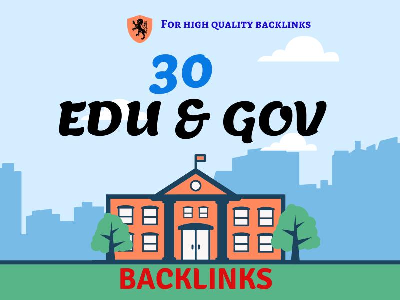 15 EDU 15 GOV and 40 blog comments total 70 backlinks High DA PA