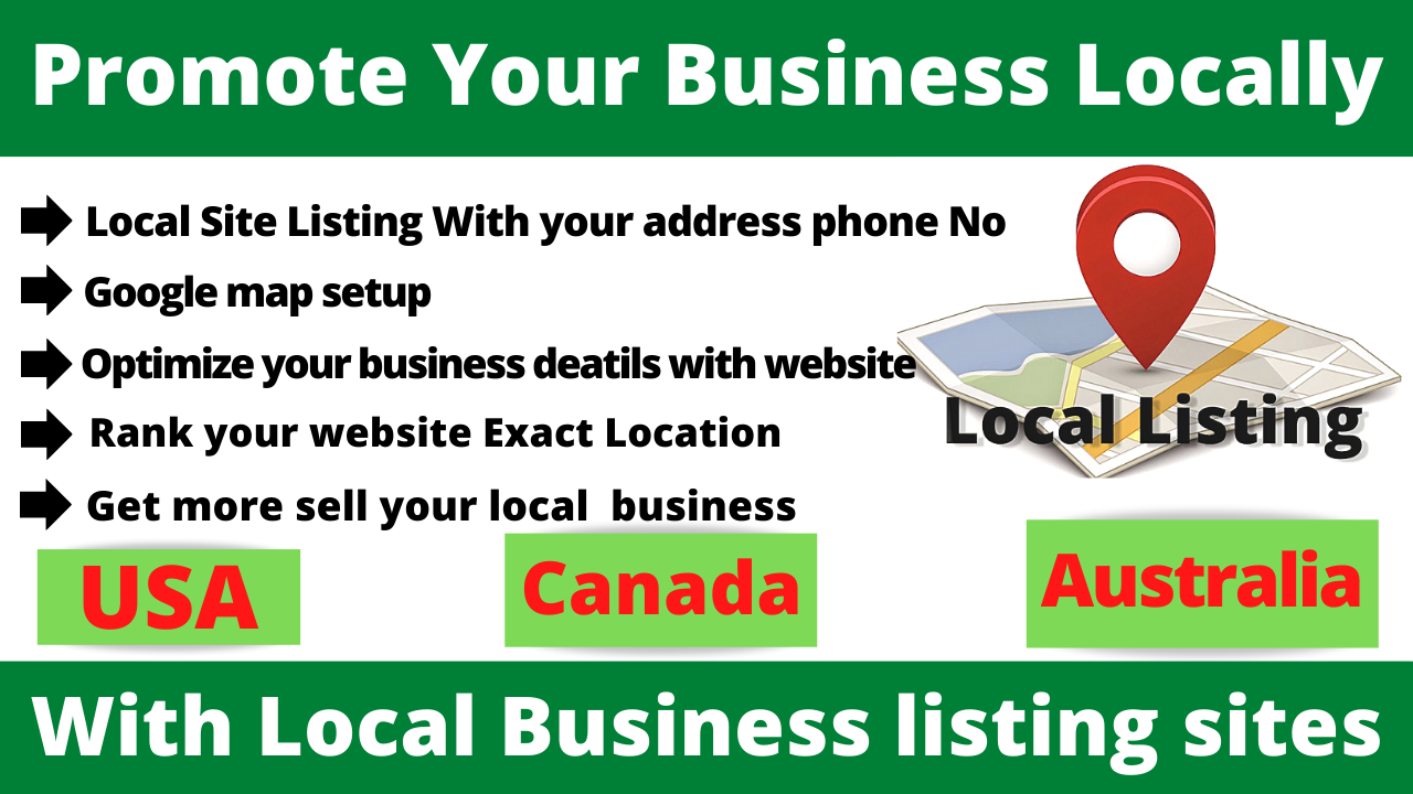 You can Promote Your Business or Services By 100 local citations SEO or business listing Directory