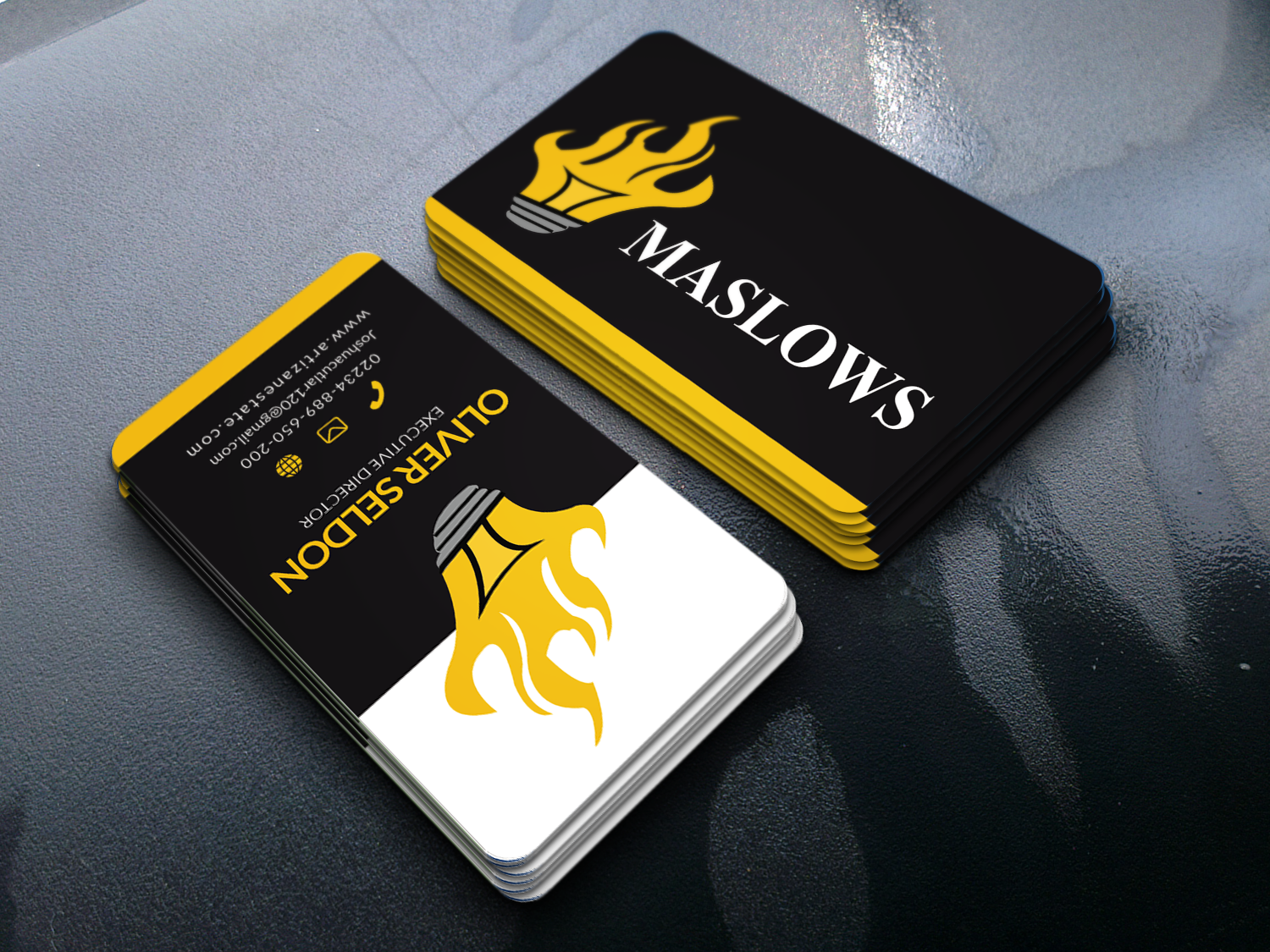 I will Create different types of unique business cards for you