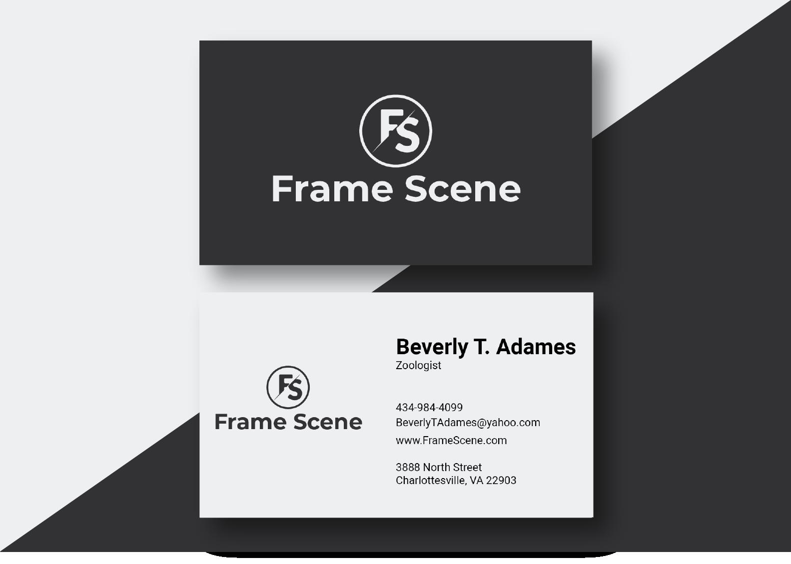 I will design unique minimal business card design