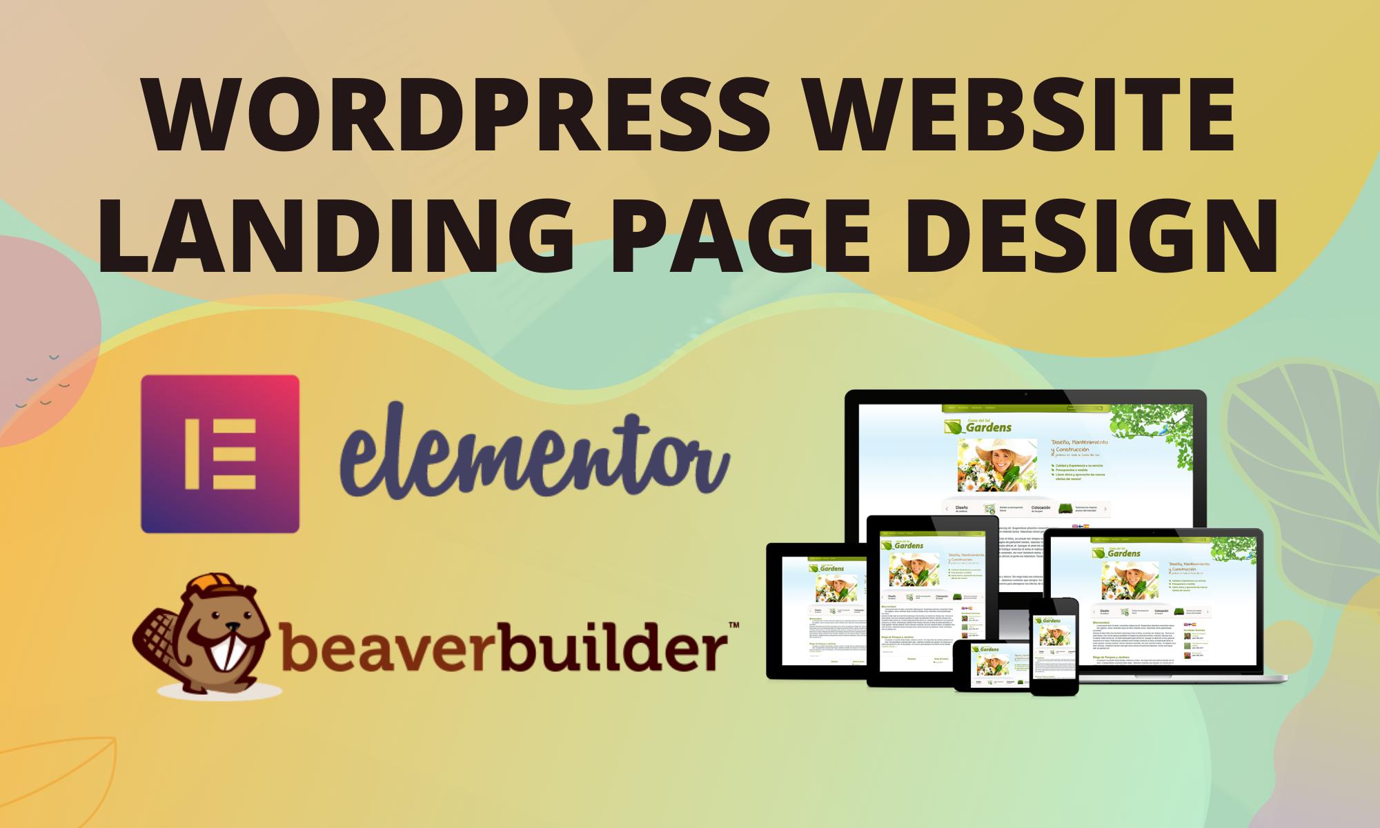 wordpress website with elementor pro