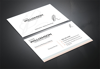 I will design professional creative minimalist business card