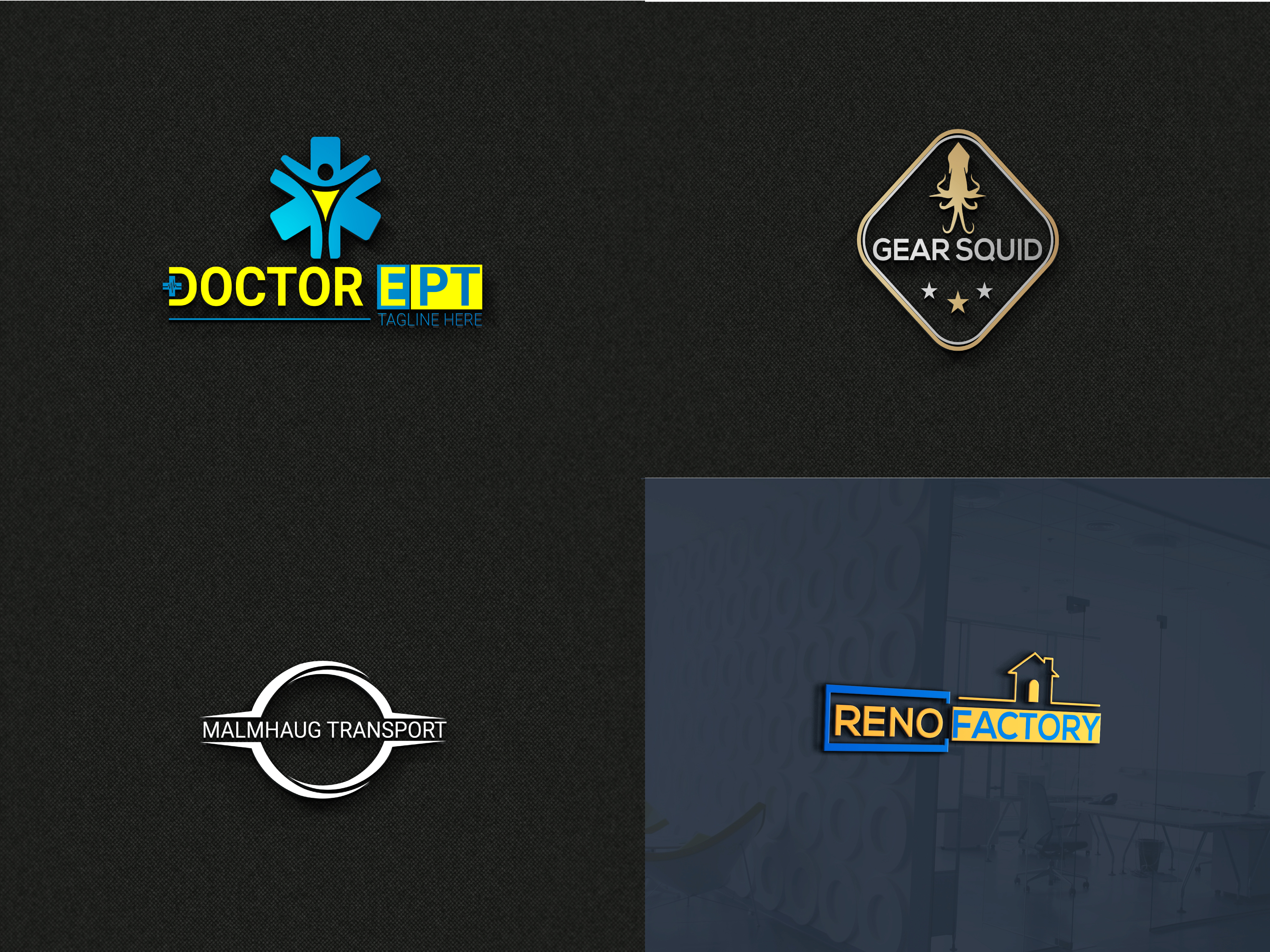 I will design clean and minimalistic premium logo for your brand