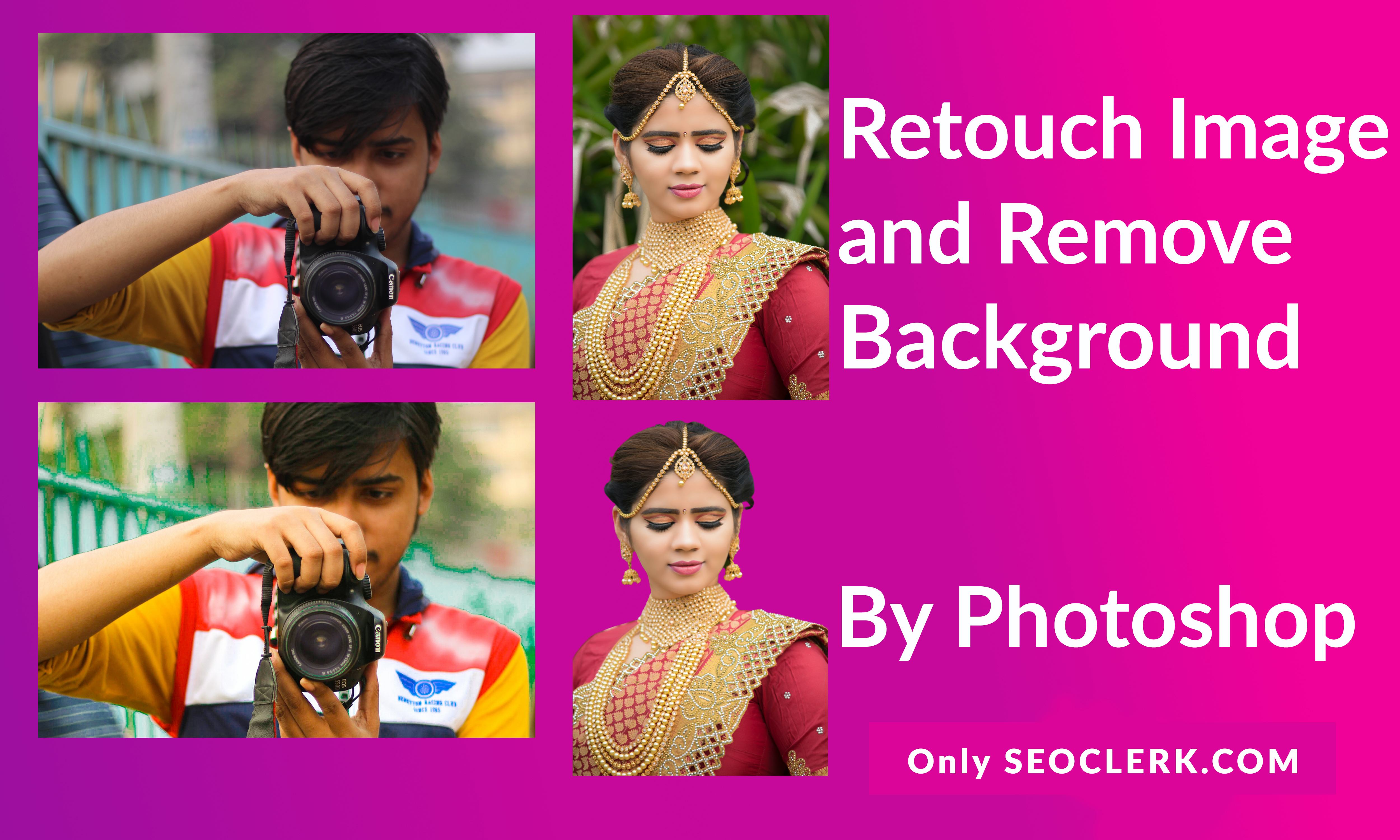 Retouch & Remove Image background in 1minute