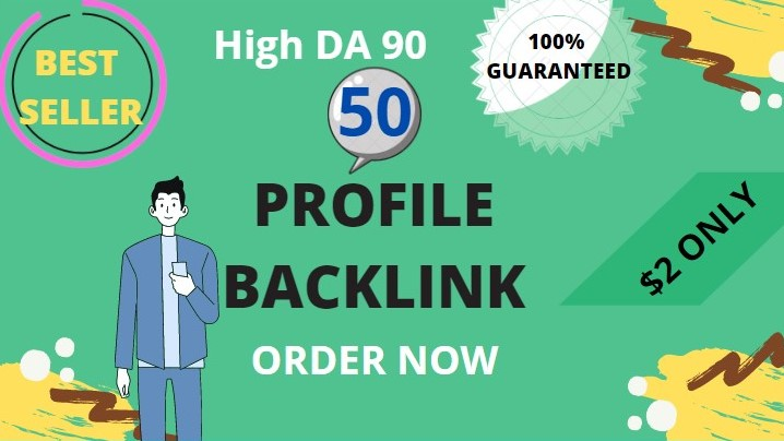I will create 50 profile backlinks manually on high DA PA sites for website ranking