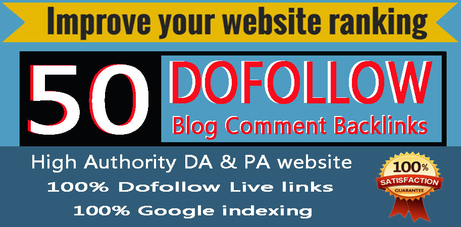 I will do 50 High DA PA SEO Dofollow Blog Comments Backlinks spam score 10 below