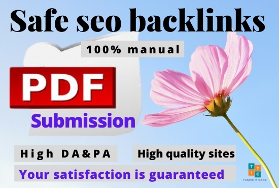 I will manually do pdf submission 20 to top doc sharing sites