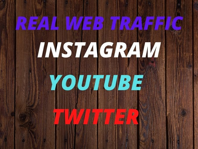 I will provied real targeted web traffic instagram,  youtube,  twitter