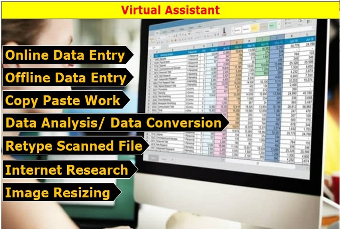 I will do perfect excel data entry,  data analysis,  typing and internet research