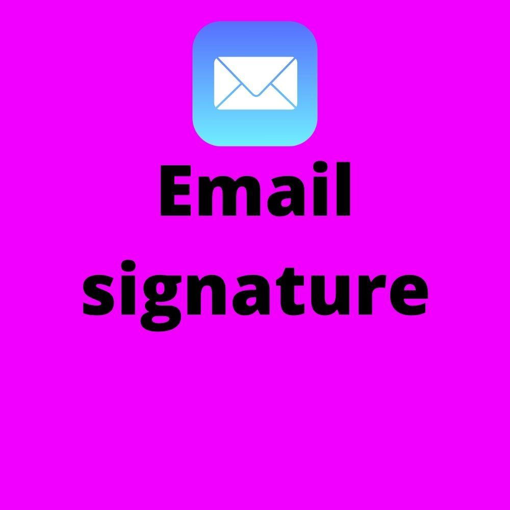 I will design a professional email signature