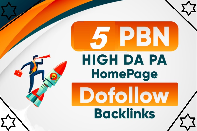 Build 5 High DA PA Homepage PBN Permanent Dofollow Backlinks