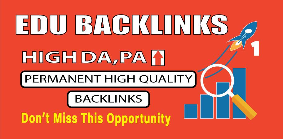 Provide 10 high authority EDU backlink