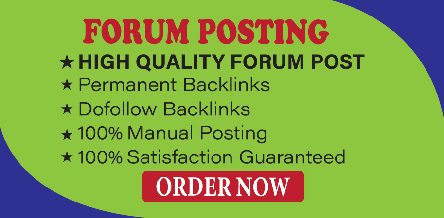 Provide 25+ Forum Posting High Authority SEO Backlinks