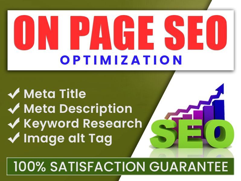 I will write meta title,  description with on page SEO optimization