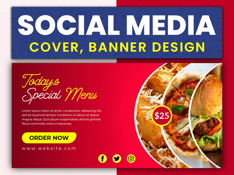 I will do professionally social media cover,  banner design.
