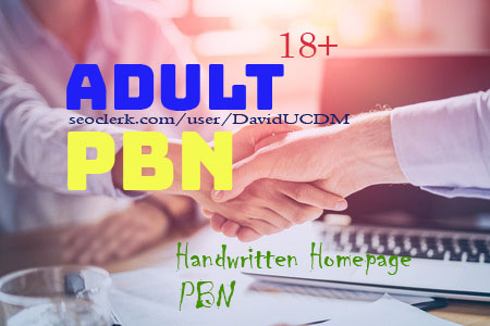 25 Adult 100 Percent Handwritten Homepage PBN Backlinks
