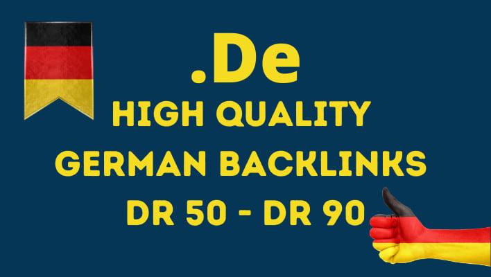 Build quality de German dr 50 to 90 dofollow backlinks