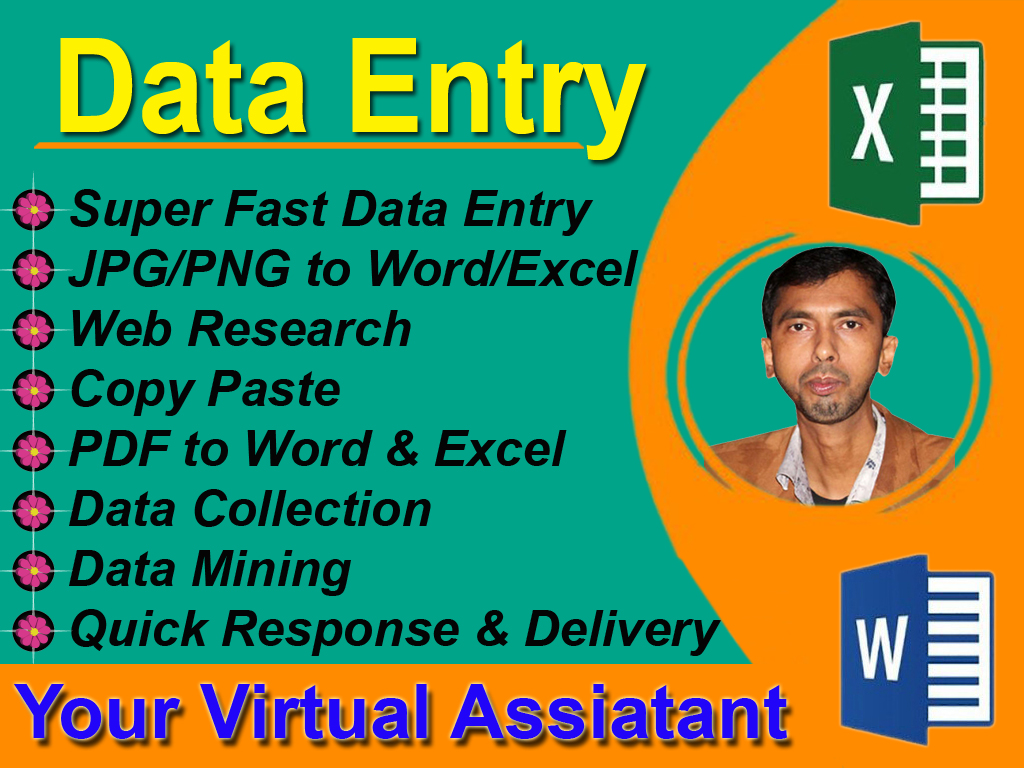 I will do any data Entry,  Lead generation,  web research for your business or company