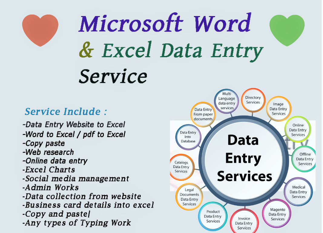 I will do data entry,  data mining,  web research,  copy paste,  online,  offline,  any entry