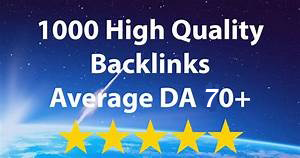 I will do 1000 high quality dofollow backlinks manually link building for you