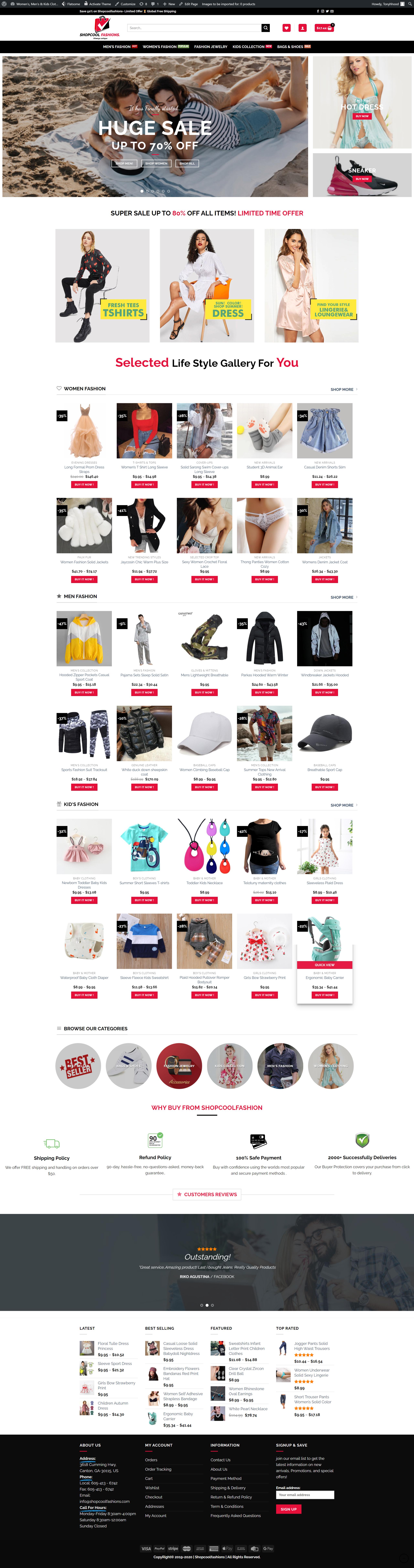 I will build your ecommerce website using wordpress
