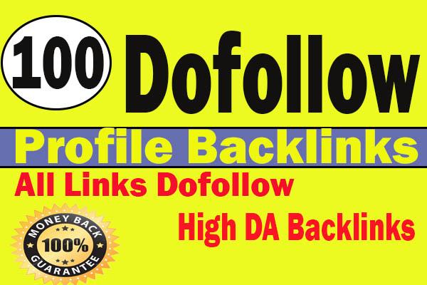 I will do 100 high DA90 dofollow profile backlinks