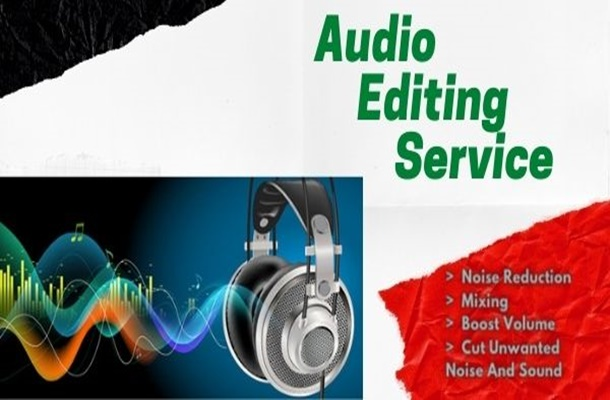 I will edit your audio recording/podcast by reducing noise,  repeated words and volume up the voice