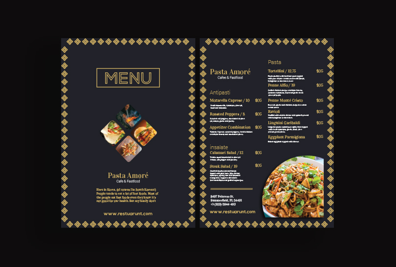 i will professional food menu design