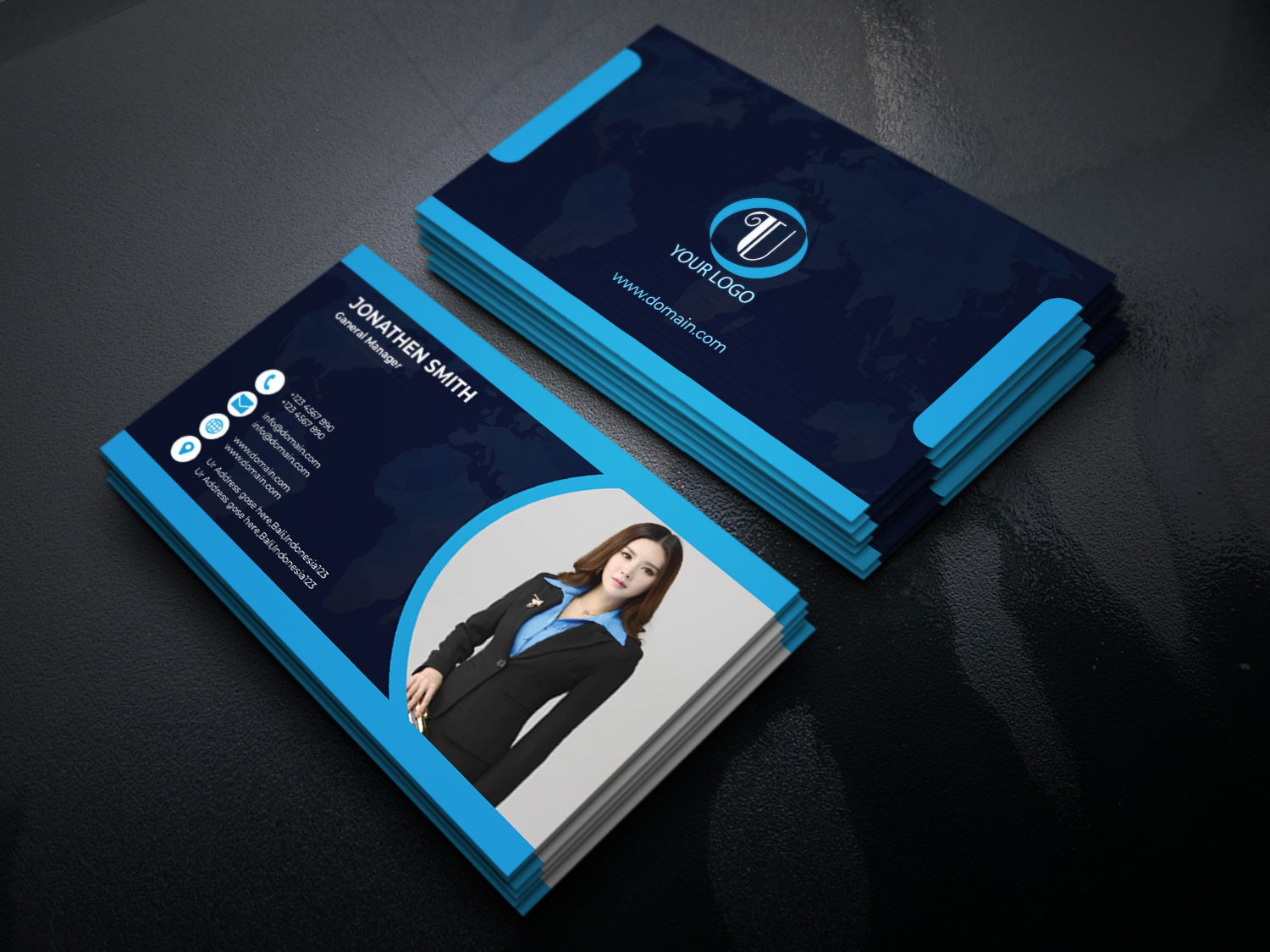 I will design unique and professional business card with letterhead