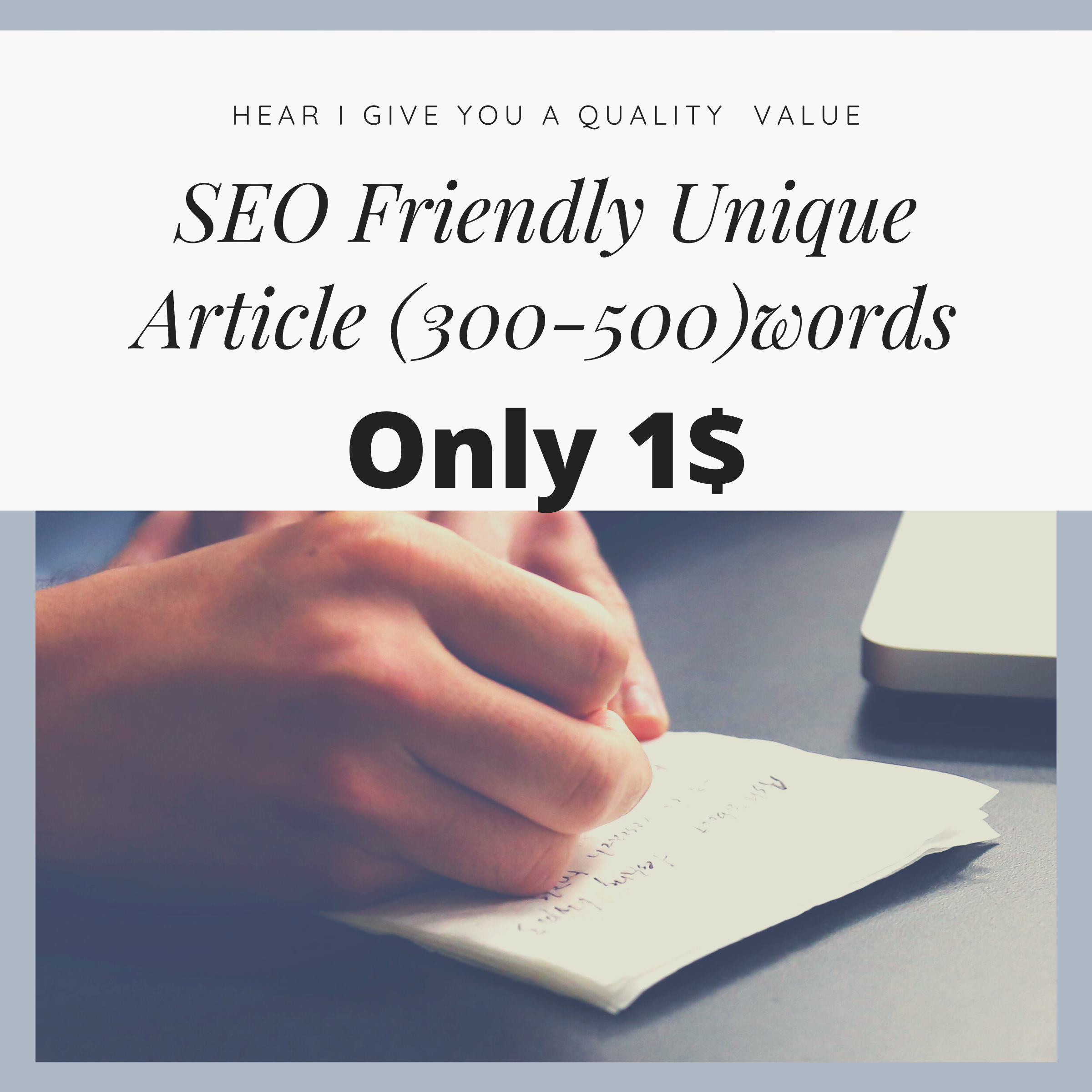 I will Write best SEO friendly article and blog post in 300-500 words